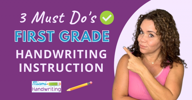 3 Tips to Teach Handwriting to First Graders